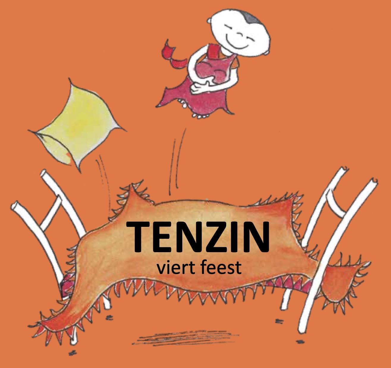 Tenzin viert feest voorkant klein